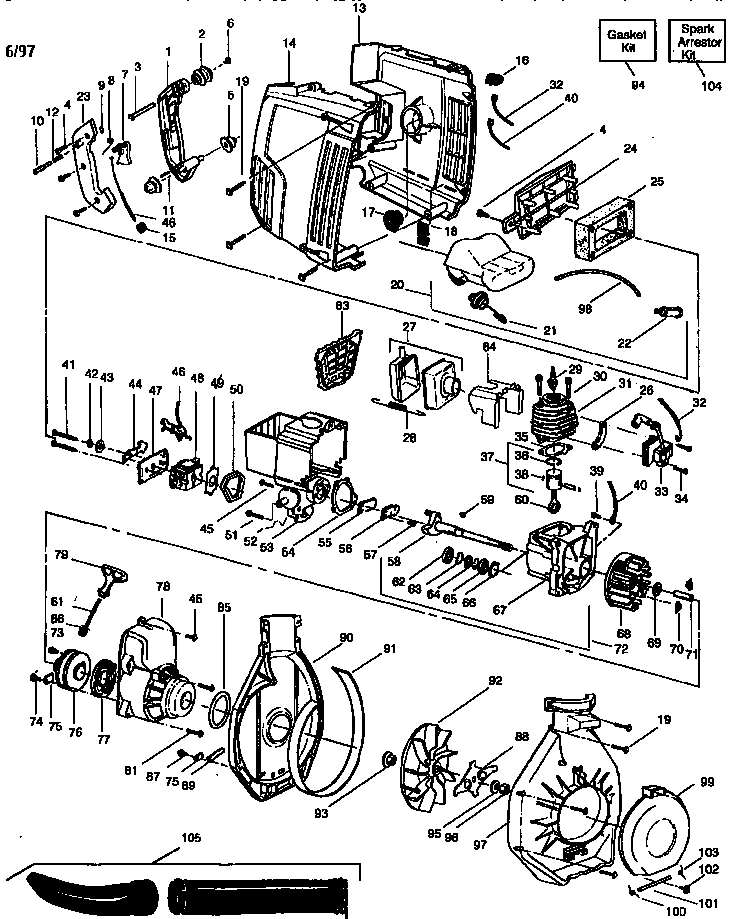 weed eater blower parts manual
