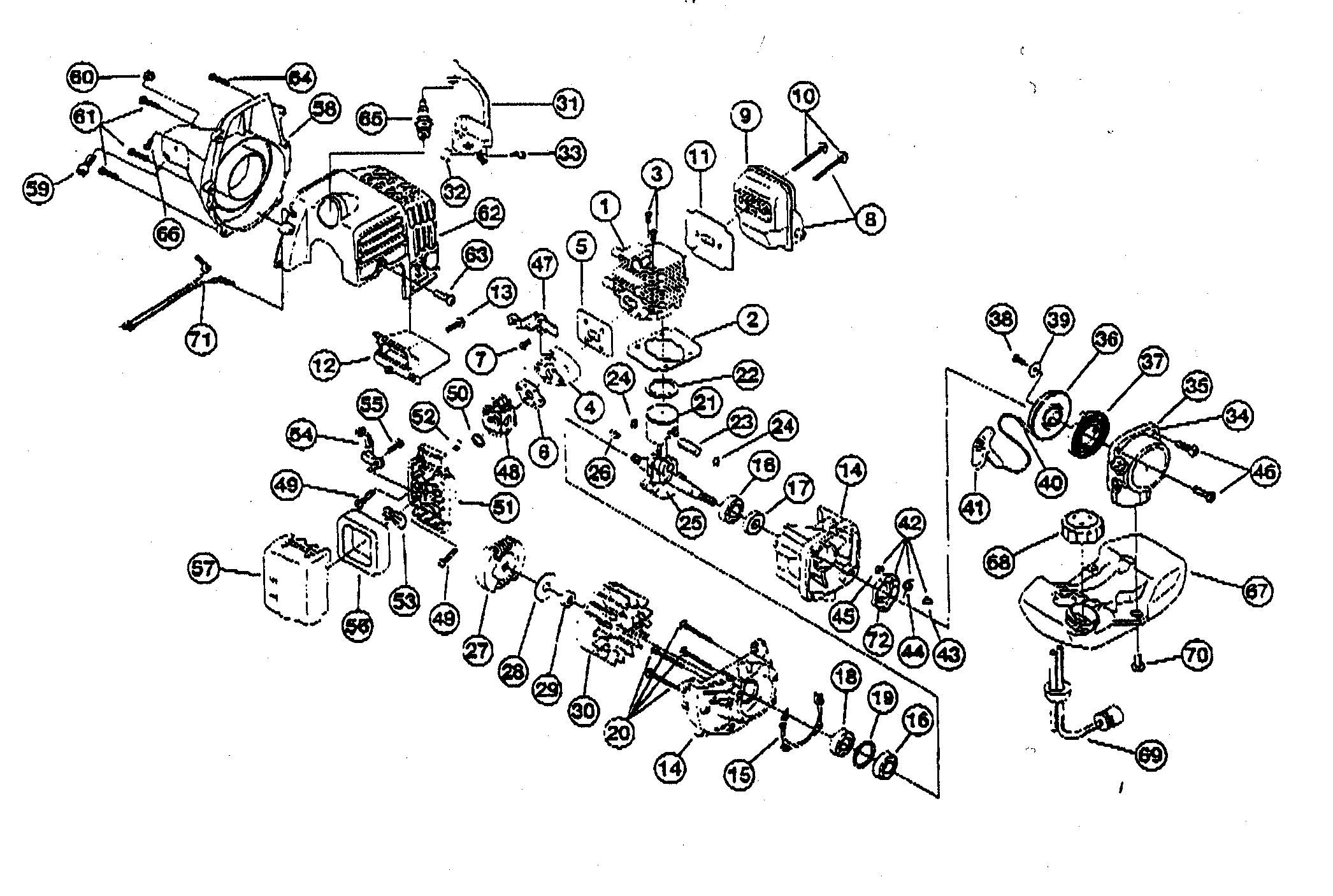parts manual for sears 31cc ges lawn trimmer