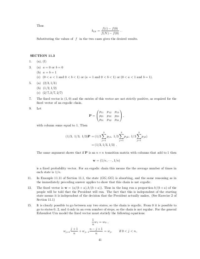 introduction to probability alainen solution manual
