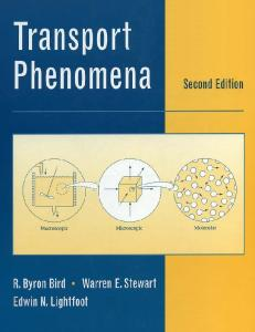 transport phenomena a unified approach solutions manual pdf