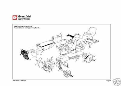 westwood ride on mower manual full parts list